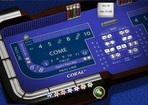 Craps table at Coral Casino